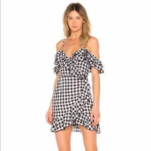 Majorelle Revolve NWT Hayes Gingham Wrap Dress
